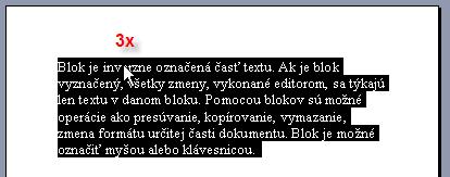 Trojklik v texte